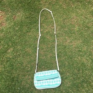 Baby blue crossover purse